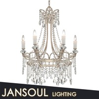 New crowen shape chandelier white crystal chains models crystal ball decor lamp