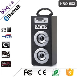 Best Selling Boombox Type Mini Karaoke Speaker with LED/Bluetooth/USB passive radiator