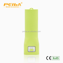 China emergency charger with led flash light torch mini cylinder power bank