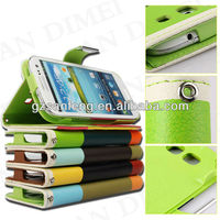 Good quality wallet leather case for galaxy s3,samsung galaxy wallet case,leather case cover for sansung I9300