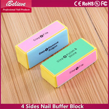 Professional ibelieve nail art tools: 4 sides nail buffer block all sizes nail buffer