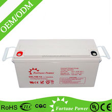 Sufficient capacity sealed maintenance free lead acid 12v 150ah flow battery