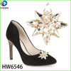 wholesale Hot sale crystal glass shape ladies shoe buckles uppers