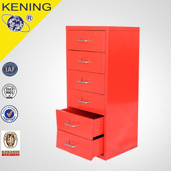 New design iron free stand 6 drawer vertical file cabinet