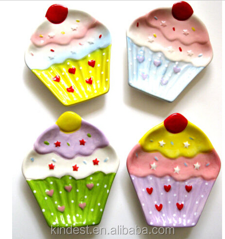 cupcake design ceramic spoon rest