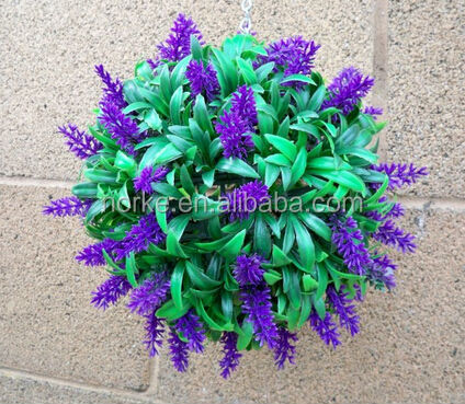30CM Artificial Lavender Long Leaf Topiary Grass Balls
