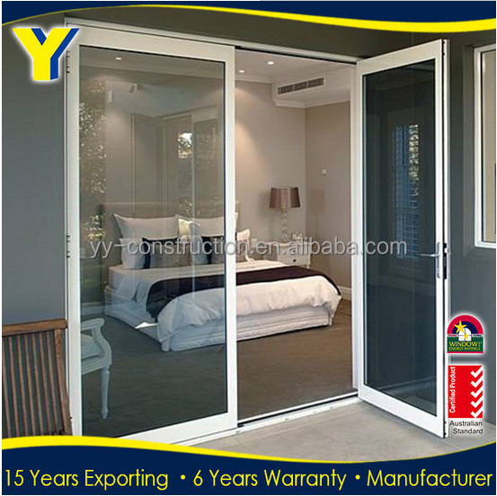 China double laminate tempered glass security room door designs aluminum door prices top 10 window manufacturers