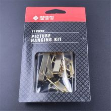 11pcs Top selling home use comfortable design blister card picture hanging kit