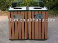 environmental outdoor wpc dustbin with high quality