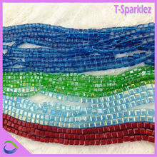 many colors cube square crystal beads for indoor decorate crystal stone