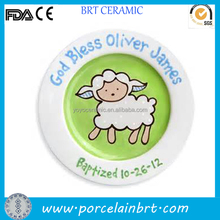 Ceramic sheep plate gifts for christmas hand paint