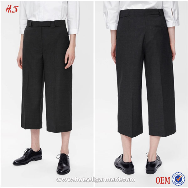 Dongguan City HotSell Garment OEM Service Female Trousers Black Pant Shirt New Style Trouser