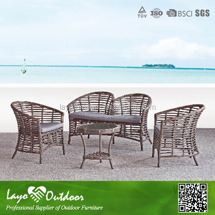 Outdoor synthetic wicker furniture for garden with aluminium material W13006