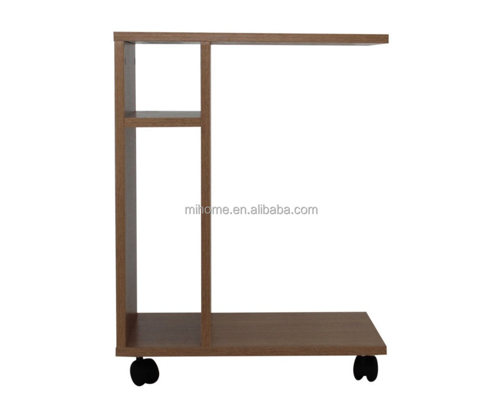 Living Room Sofa Side End Snack Coffee Table Stand Tray with shelf