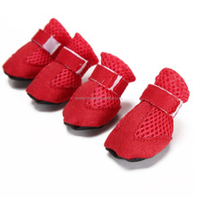 Hot Selling Nylon Tape Design Dog Indoor Shoes Breathable Non-slip Pet Shoes