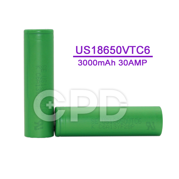 Power Bank 18650 VTC6 Battery Cell for E-Cigarette US18650VTC6 Original Li-ion Battery