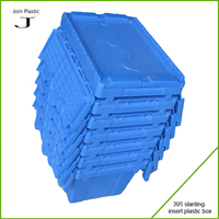 Cheap nestable plastic storage boxes for logistics with interlocking lids