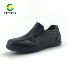 Greenshoe Little gentlemen's black business style casual shoes kids boys school shoes action leather school shoes