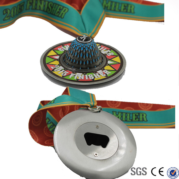 multifunction metal 3D medal with opener