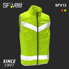 Polyester Pongee Front Mesh Back Breathable Vest High Visibility Cycling Vest With Reflective Tape