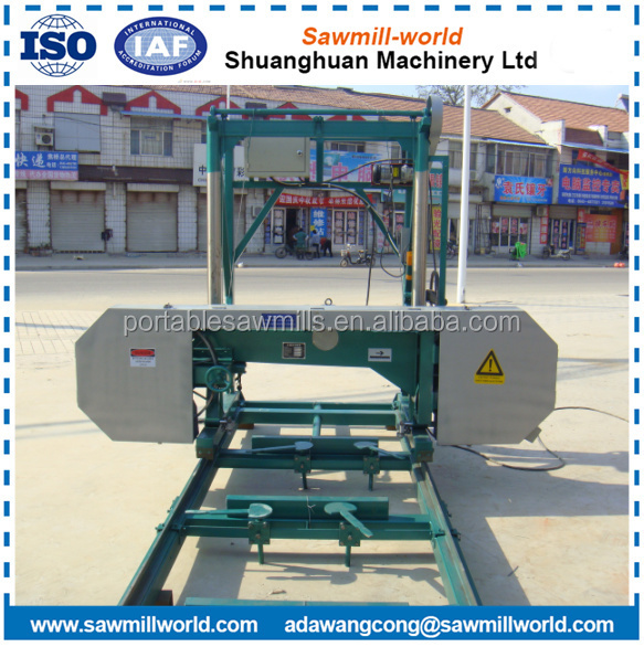 cutting machine wood horizontal saw / diesel engine horizontal wood band saw / electric engine horizontal wood bandsaw sawmill
