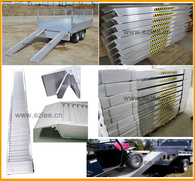 car container load heavy duty trailer ramp