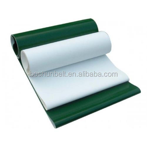 flat grossy PVC conveyor belt fabric coated-oil resistant food grade