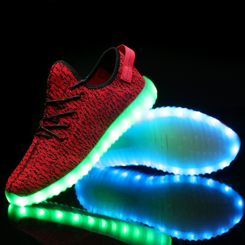 men women luminous led air cushion sport running shoes , led light flashing sport shoes , 2016 led light up running led shoes