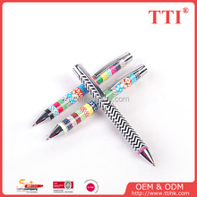 Customized 4c process print promotional plastic ball pen