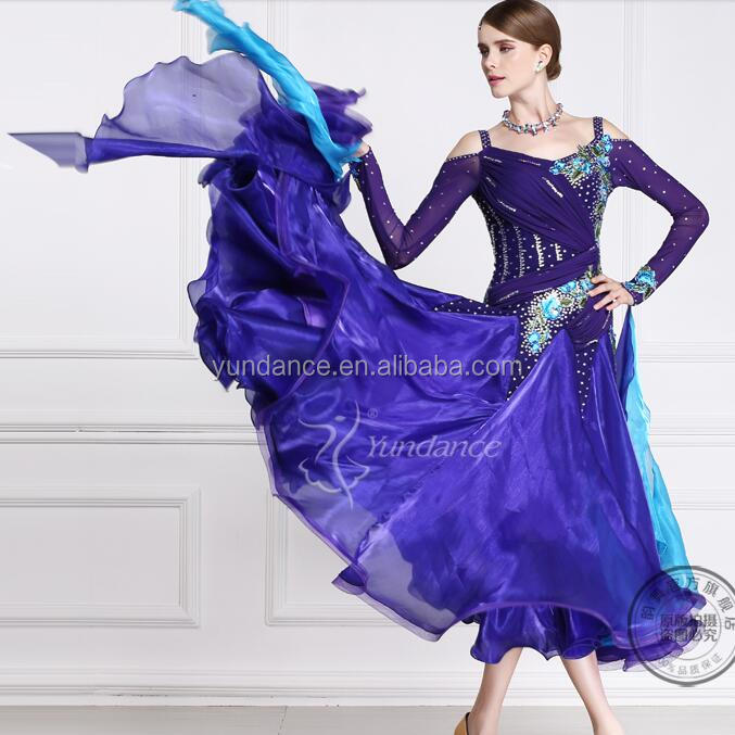 tailored ballroom dance competition dress china B-13585