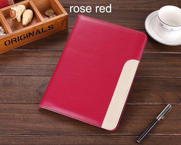 tan leather stand case for ipad air 2 ,tablet pc leather case for ipad pro