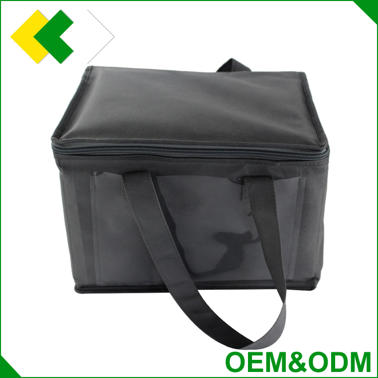 Hot sale manufacturer insulated bicycle cooler bag promotional non woven picnic lunch wine cooler bag