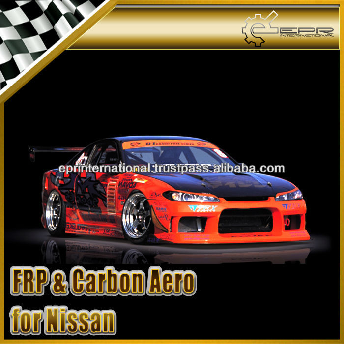 For Nissan 200SX Silvia S15 M-Sport Type II Full Bumper Body Kit