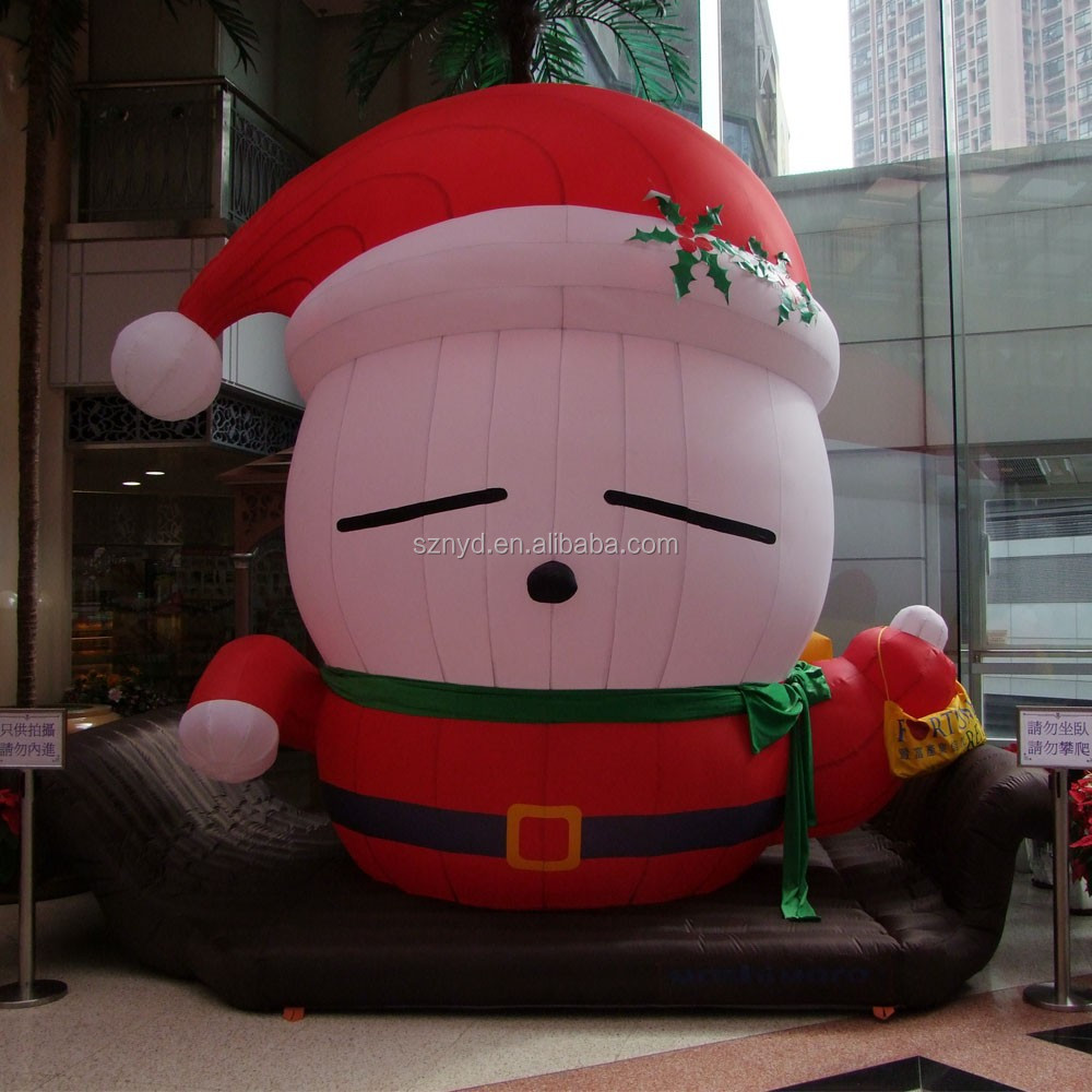 Giant sleeping santa claus for shopping mall