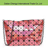 Wholesale fashion rhombus girls pu shoulder bag with chain strap