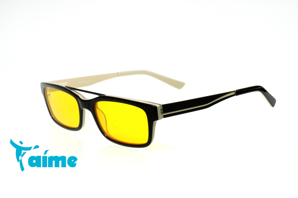 T'aime Optical 97% Blue Light 100% UV Eyewear Computer Gaming Sun Glasses / Full Rim Black Frame - TDC1502CN