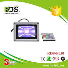 Aterproof IP65 outdoor 95lm/w 10w outdoor purple color led flood light