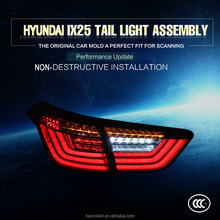 Fashion and cool led modified tail lamp for 2015~2016 year Hyundai ix25 Creta tail light