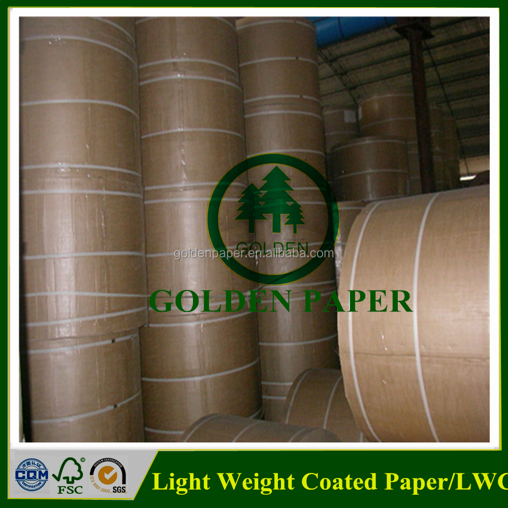 157gsm 170gsm LWC paper Roll or Sheet / light weight coated paper supplier