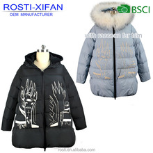 Fashionable Maternity Embroidery Wear Pregnant Women's Duck Down Coats for Winter Women Clothes