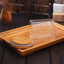 High borosilicate glass sealing tank bamboo lid