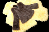 Fresh Style Real Animal Fur Short Overcoat Winter Warm Women Fox Fur Coat