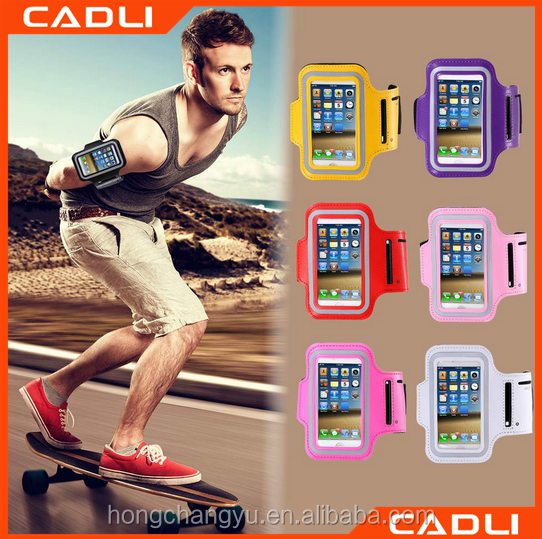 Leather Waterproof Outdoor adustable Running Sport ArmBand cellphone For iPhone 5 5S SE