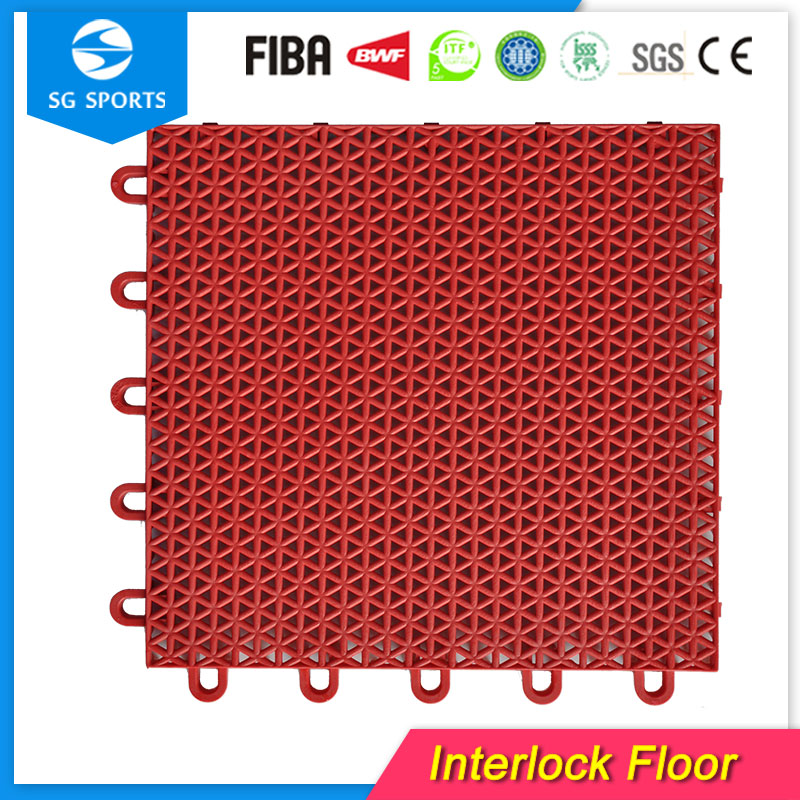 Safety modularpolypropylene tile floor indoor/outdoor pp sports surface
