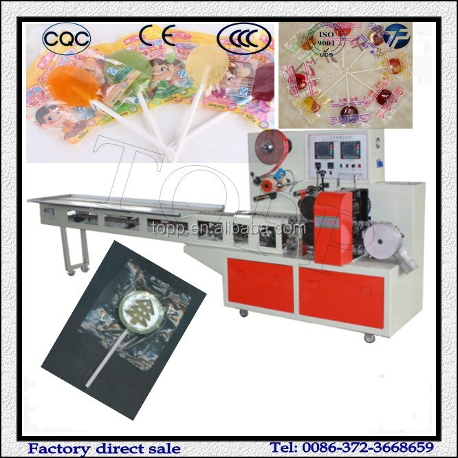 Shaped Flat Lollipop Candy Packing Machine for Hot Sale