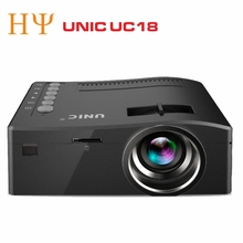 UNIC UC18 Cheapest Mini Ultra Short Throw Battery Powered 1080p Projector UC18 Projector Screen for LED Beamer