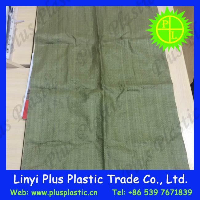 green color cement 50 kg bags, sand,building waste pp woven bag/sacks