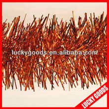 glitter thick hanging christmas orange tinsel wholesale