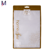 custom printed poly plastic garment bag with hanging hole mylar ziplock bag for underwear