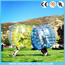 Adult inflatable human body bumper bubble ball,sumo belly bumper ball football inflatable body zorb ball From China